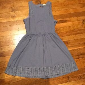 Purple juniors fit and flare dress